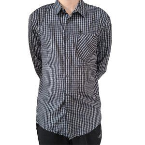 VOLCOM Slim Fit Dark Blue & White Check Shirt XL